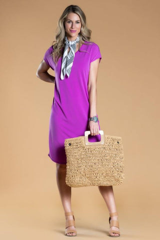 Brigitte Brianna Day-to-Day Pocket Dress in Orchid