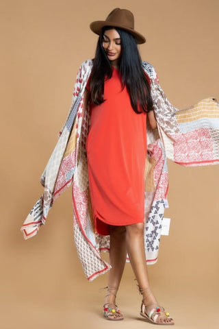 Day to Day Pocket Dress in Tangerine