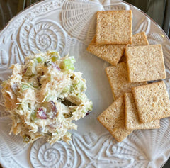 Homemade chicken salad and Wheat Thins