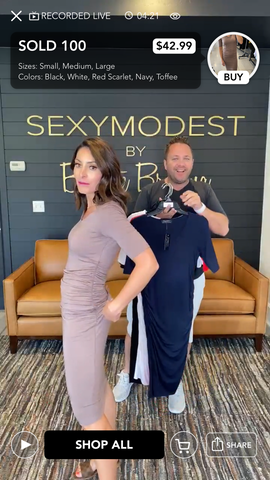 Jason and Brigitte LIVE on the SexyModest App