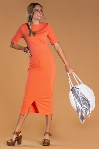 New York Dress in Living Coral