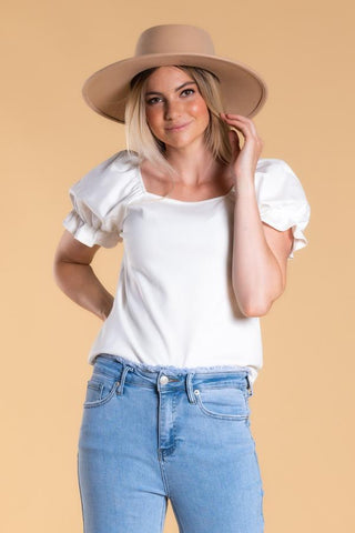 Picnic Top in Ivory