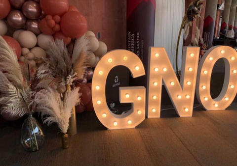 SexyModest lighted GNO sign