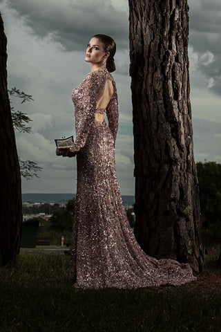 Woman in sparkling evening dress - Image by Galina Krupoderova from Pixabay