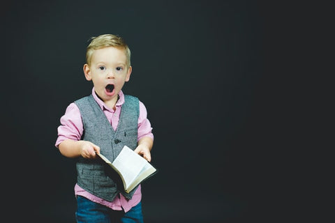 Little boy with surprised face