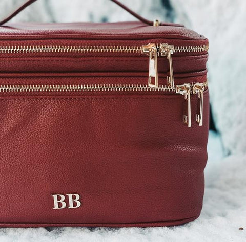 Cosmetic Case in Holly Berry color