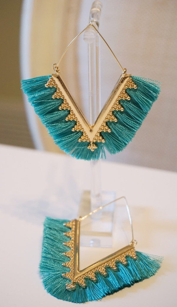 Janelle Fringe Drop Earrings - SexyModest Boutique