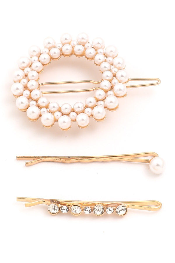 Circle Pearl Hair Pin Set - SexyModest Boutique