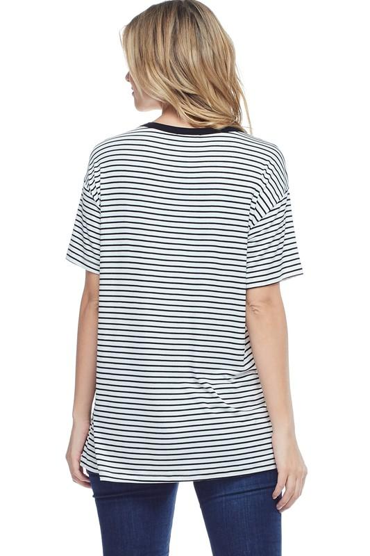 Set Sail Striped Shirt - SexyModest Boutique