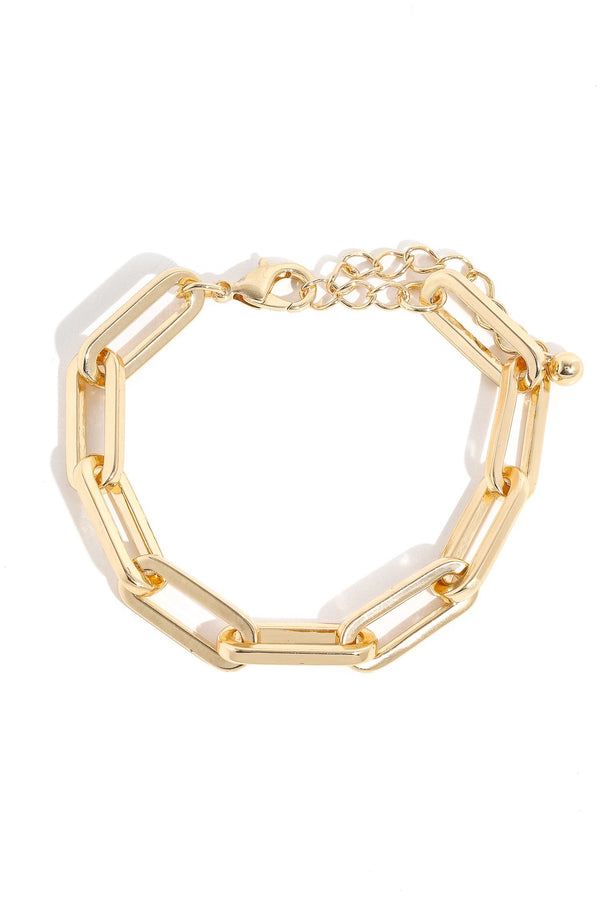 Oval Adjustable Chain Link Bracelet - SexyModest Boutique