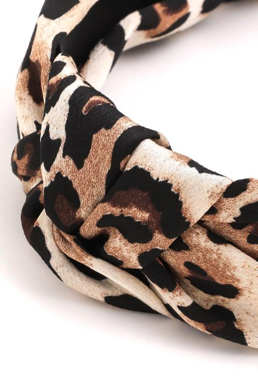 Leopard Print Knot Headband - SexyModest Boutique