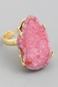 Pink Stone Adjustable Ring - SexyModest Boutique