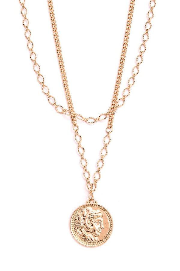 Layered Medallion Necklace - SexyModest Boutique