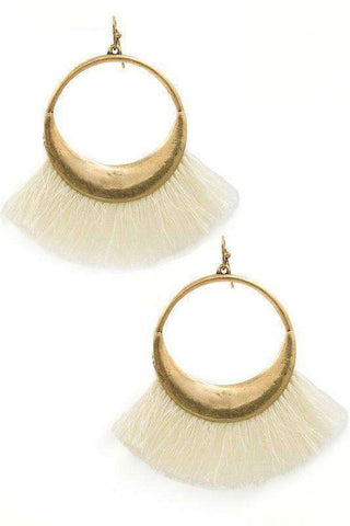 Michelle Fringe Drop Earrings - SexyModest Boutique