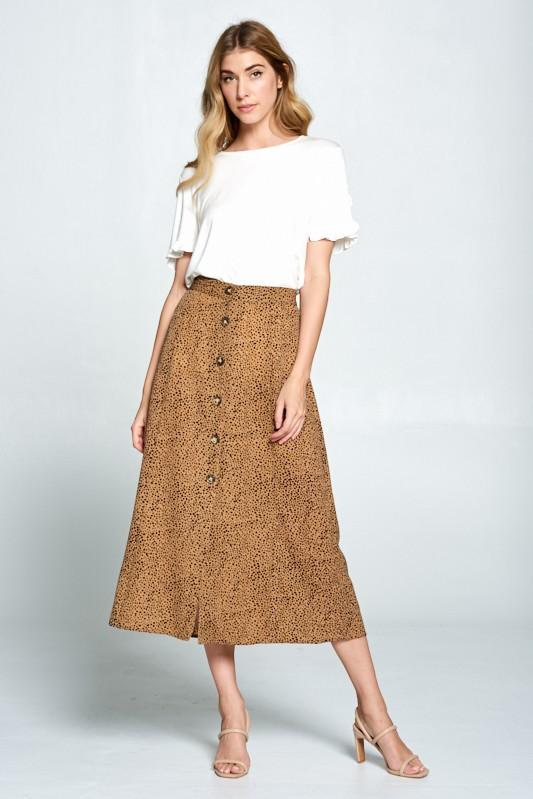 Taylor Leopard Skirt - SexyModest Boutique