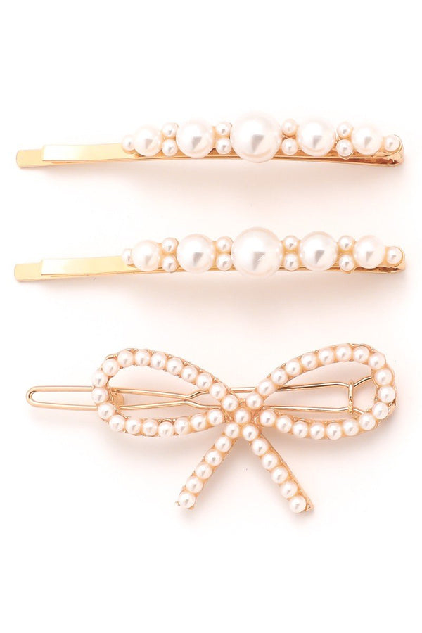 Ribbon Pearl Hair Pin Set - SexyModest Boutique