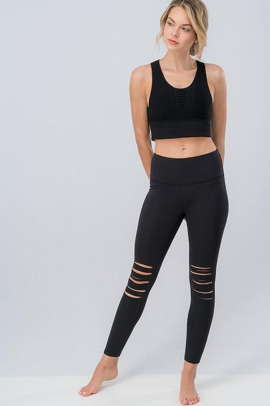 Valerie Knee Slit Leggings - SexyModest Boutique