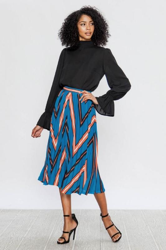 Amelia Chevron Skirt - SexyModest Boutique