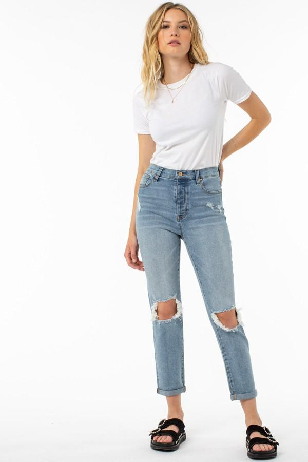 Alexa High Rise Jeans - SexyModest Boutique