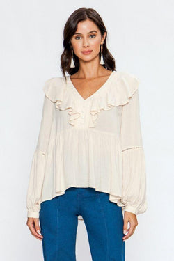 Madison Ruffle Blouse - SexyModest Boutique