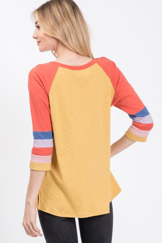 Alli Mustard Top - SexyModest Boutique