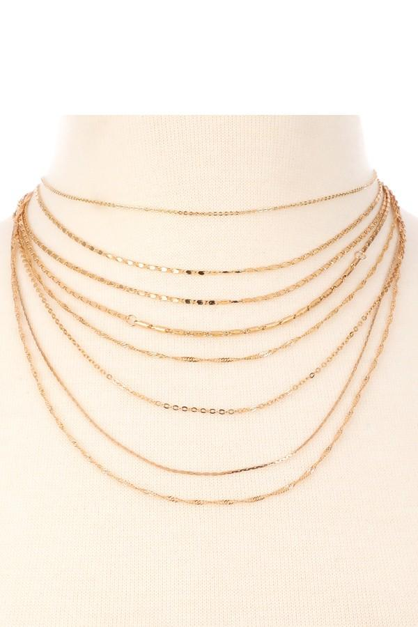 Melting Medley Metal Layered Necklace - SexyModest Boutique