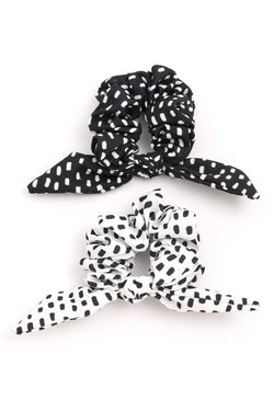 Polka Dot Bow Scrunchie Set - SexyModest Boutique