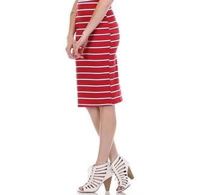 All Smiles and Stripes Skirt - SexyModest Boutique