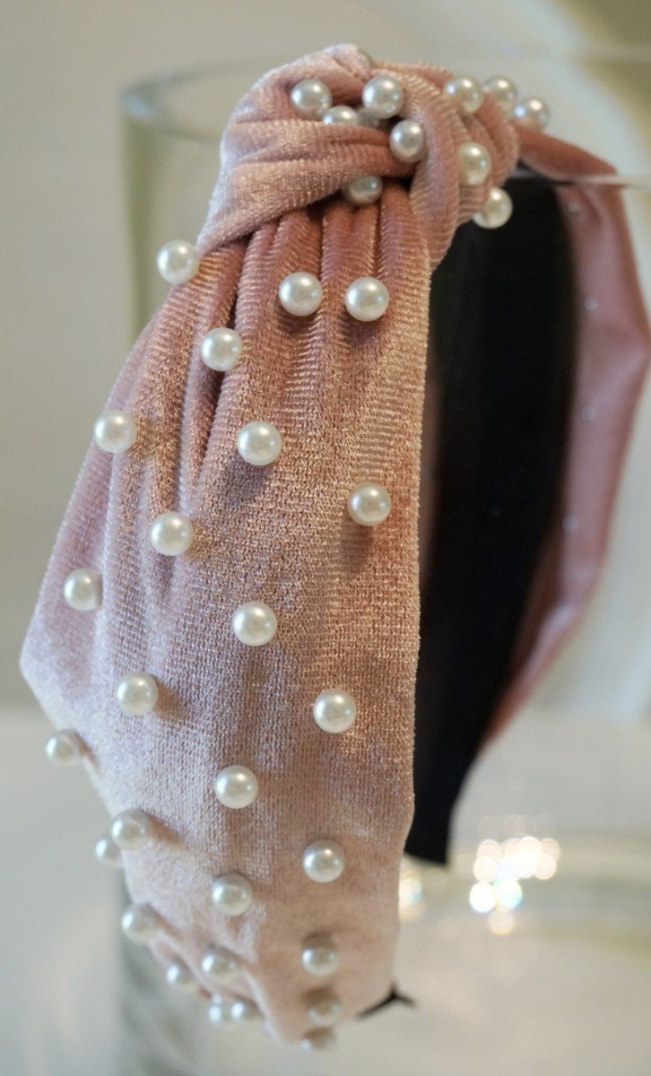 Pearl Top Knot Headband - SexyModest Boutique