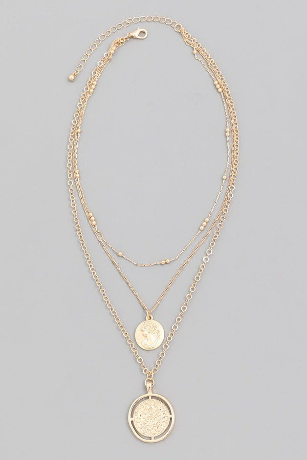 Triple Layer Coin Necklace - SexyModest Boutique