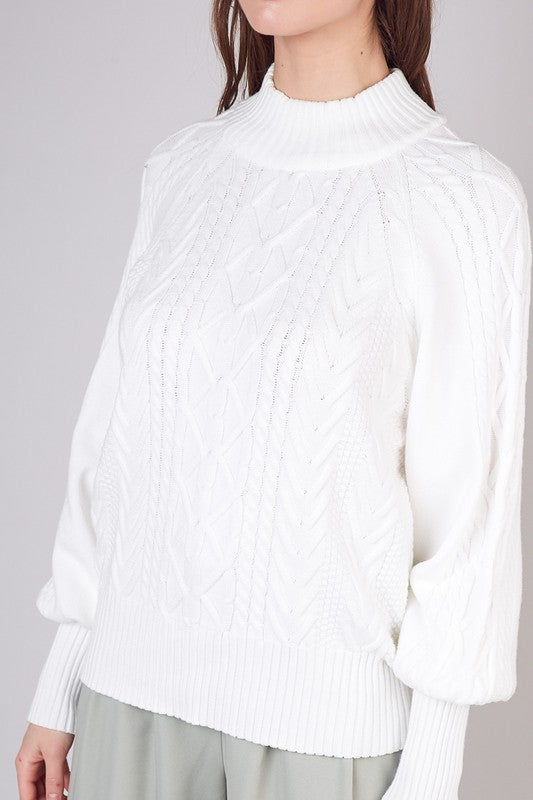 Becky Bubble Sleeve Sweater - SexyModest Boutique