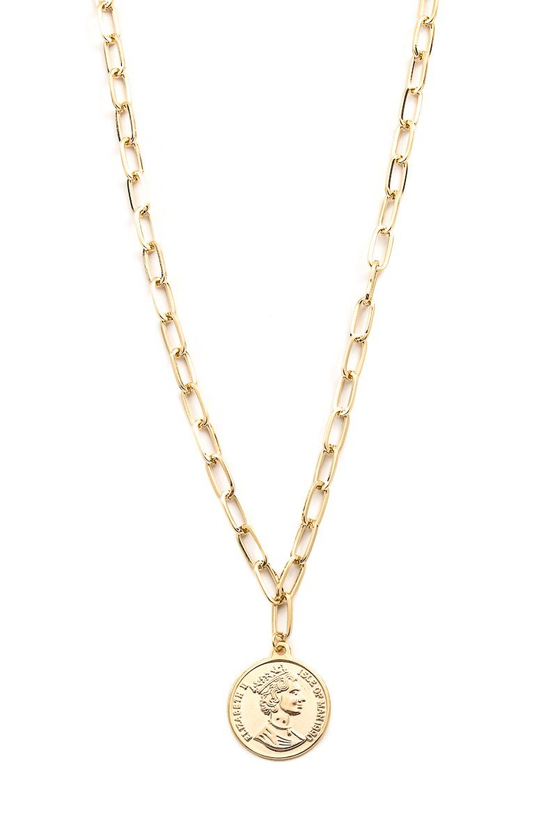 Queen Elizabeth Pendant Necklace - SexyModest Boutique