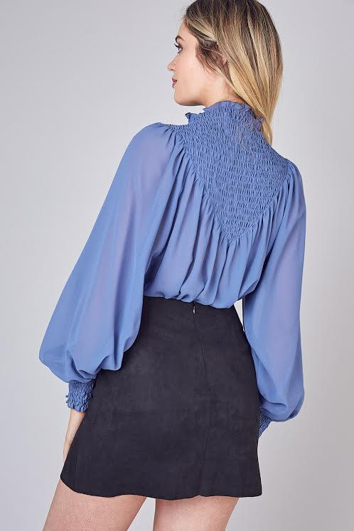 Jessica Smocked Blouse - SexyModest Boutique