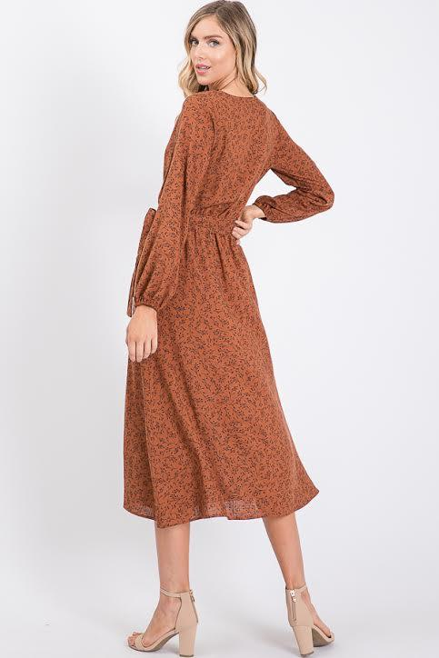 Shanna Wrap Dress - SexyModest Boutique