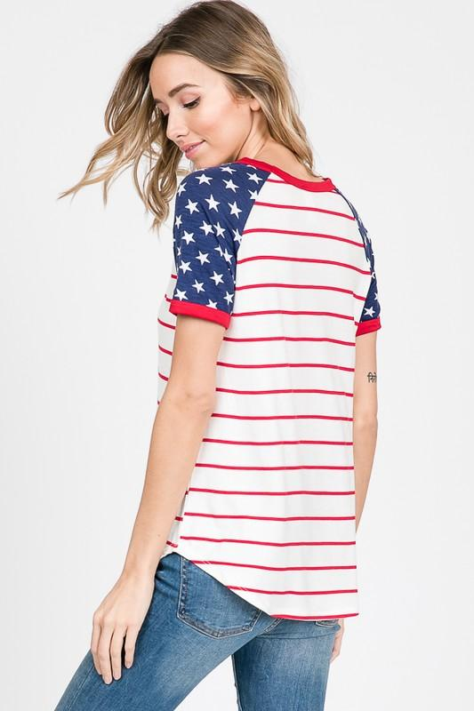Stars and Stripes Shirt - SexyModest Boutique