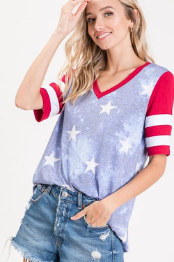 Sammy Stars and Stripes Tee - SexyModest Boutique