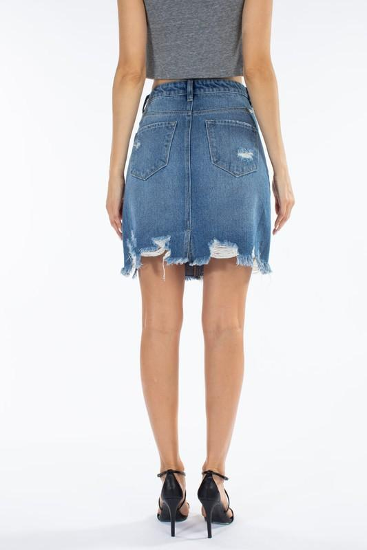 Monica Denim Skirt - SexyModest Boutique