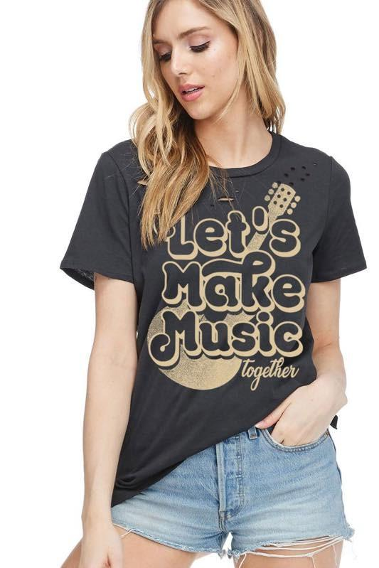 Let's Make Music Tee - SexyModest Boutique