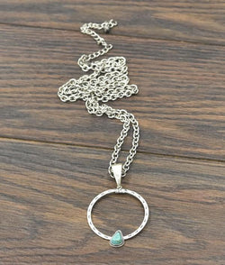 "30"" Turquoise Pendant Necklace"