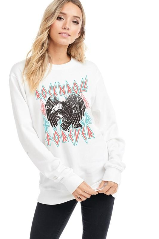 Rock and Roll Forever Sweatshirt - SexyModest Boutique