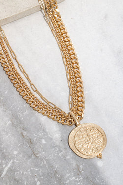 Multi Chain Coin Pendant - SexyModest Boutique