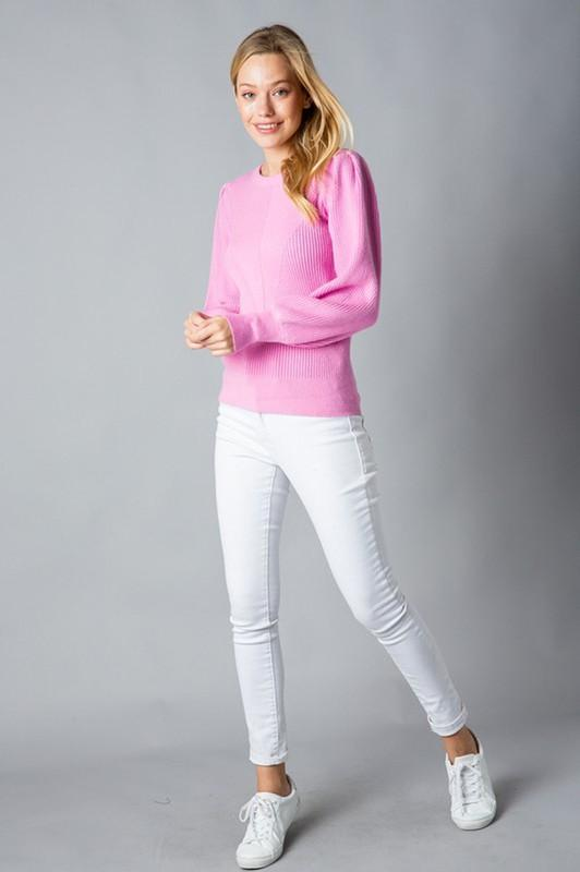 Kelsie Puff Sleeve Sweater - SexyModest Boutique