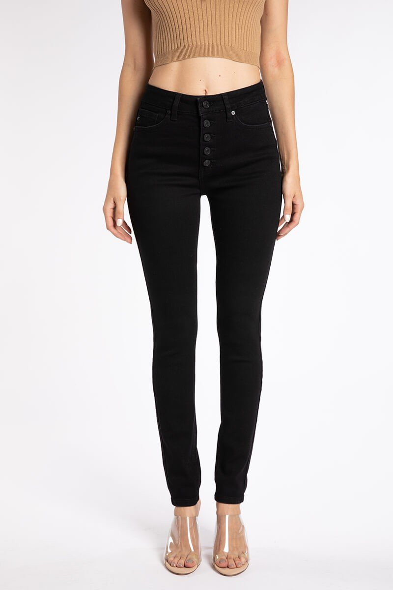 Brinley High Waist Black Jeans - SexyModest Boutique