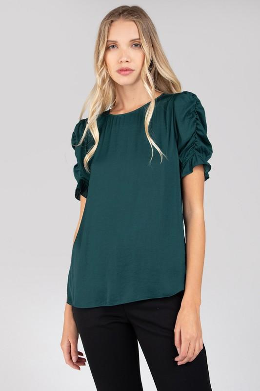 Grace Gathered Ruffle Sleeve Blouse