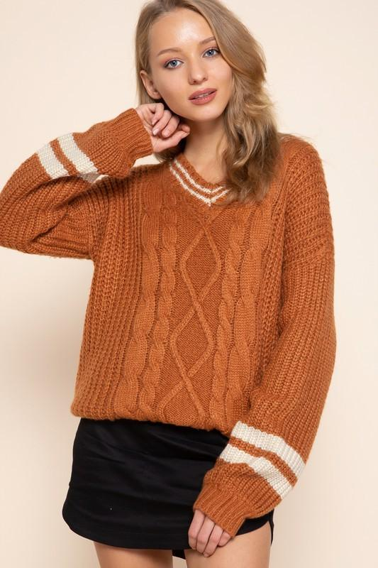 Aster Varsity Knit Sweater