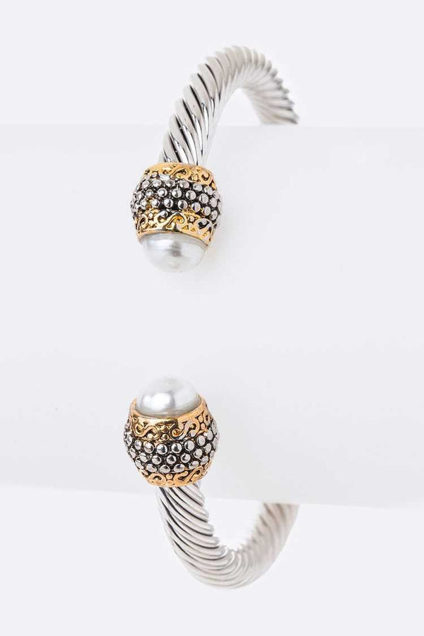 Pearl Tip Bangle - SexyModest Boutique