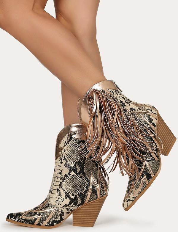 Marque Fringed Western Boots