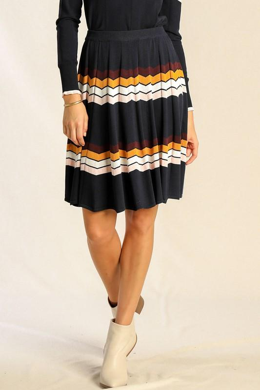 Josie Chevron Skirt - SexyModest Boutique