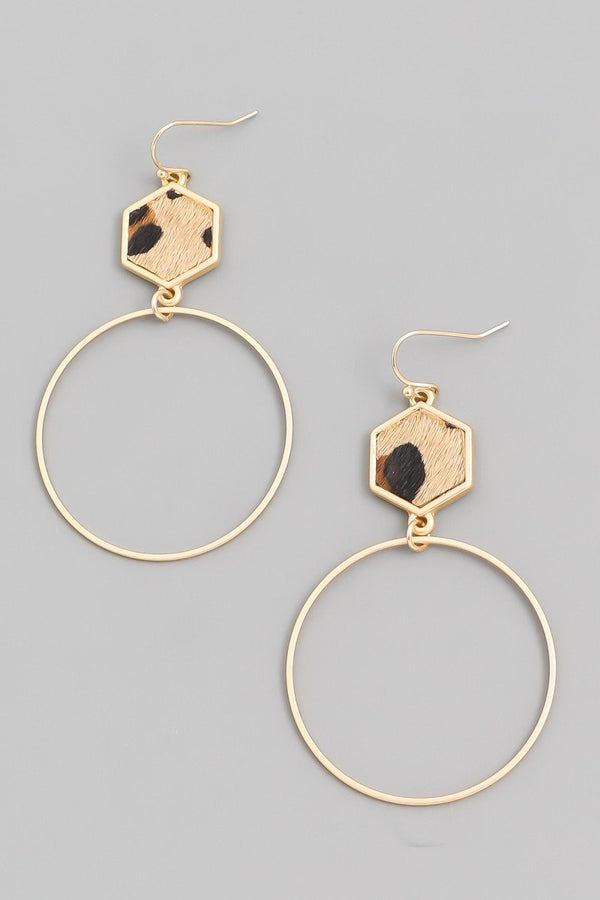 Circle Drop Earrings - SexyModest Boutique
