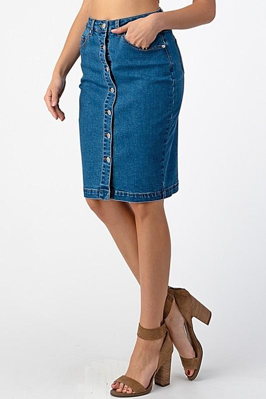 Andie Denim Skirt - SexyModest Boutique